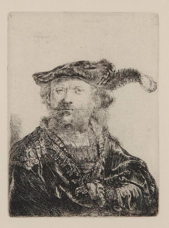 rembrandt self portrait with plume